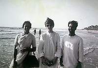 BNPS.co.uk (01202 558833)<br /> Pic: Omega/BNPS<br /> <br /> George on a beach near Goa.<br /> <br /> Never before seen photographs of George Harrison's spiritual trip to India that influenced the rest of The Beatles to later visit have been unearthed over 50 years later.<br /> <br /> The late Beatle found the 1966 pilgrimage to the sub-continent liberating and persuaded the rest of the band to go back with him 18 months later.<br /> <br /> Their famous visit and stay with the Maharishi Mahesh Yogi's yoga retreat had a significant influence in the music the Fab Four went on to  produce.<br /> <br /> The six colour faded photos show George with his wife Patti Boyd with sitar player Ravi Shankar and friends sitting among ancient ruins and a selfie of him on a beach.<br /> <br /> Being sold alongside the snaps is a quilted orange jacket that George wore in India and left behind in 1967.