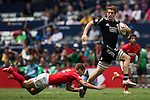 New Zealand vs Argentina during the HSBC Sevens Wold Series Cup Quarter Finals matchas part of the Cathay Pacific / HSBC Hong Kong Sevens at the Hong Kong Stadium on 29 March 2015 in Hong Kong, China. Photo by Xaume Olleros / Power Sport Images