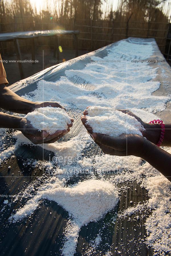 MALAWI, Salima, cassava processing unit / MALAWI, Salima, GIZ Projekt gruene Innovationszentren, Maniok Verarbeitungsunternehmen in Salima, Verarbeitung von Maniok zu Mehl und Staerke