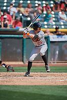 Drew Ferguson (23) of the Fresno Grizzlies bats against the Salt Lake Bees at Smith's Ballpark on September 4, 2017 in Salt Lake City, Utah. Fresno defeated Salt Lake 9-7. (Stephen Smith/Four Seam Images)