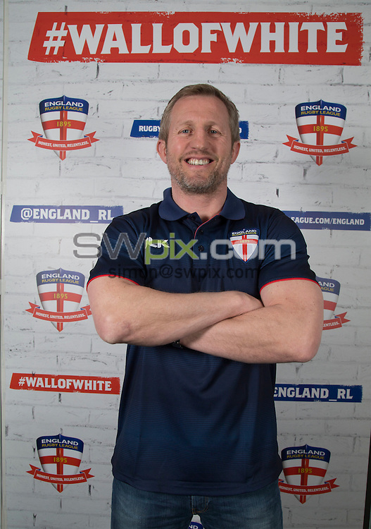 Picture by Paul Currie/SWpix.com - 28/05/2016 - Rugby League - England Rugby Announcement- Hotel Football - Manchester - Denis Betts has been appointed as Assistant Coach of the England Rugby League team by new head coach Wayne Bennett