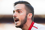 Pablo Sarabia Garcia of Sevilla FC reacts during their La Liga match between Atletico de Madrid and Sevilla FC at the Estadio Vicente Calderon on 19 March 2017 in Madrid, Spain. Photo by Diego Gonzalez Souto / Power Sport Images