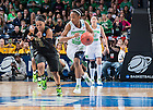 Mar 31, 2014; NLindsay Allen (15) dribbles as Baylor Bears guard Odyssey Sims (0) defends in the regional final of the 2014 NCAA Tournament. Notre Dame won 88-69. <br /> <br /> Photo by Matt Cashore