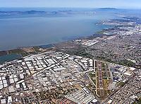 aerial photograph Hayward, Alameda county, California