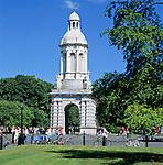Ireland, Dublin County, Dublin: Trinity College, The Campanile | Irland, Dublin County, Dublin: Trinity College, The Campanile