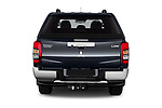 Straight rear view of 2020 Mitsubishi L200 Intense-Edition-One 4 Door Pick-up Rear View  stock images
