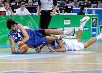 Milos Teodosic during quarterfinal basketball game between Greece and Serbia in Kaunas, Lithuania, Eurobasket 2011, Friday, September 16, 2011. (photo: Pedja Milosavljevic)