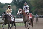 September 21, 2013.  Will Take Charge, trained by D. Wayne Lukas and ridden by Luis Saez, wins the Pennsylvania Derby at  Parx Racing, Bensalem, PA.   At left as the horses return is Speak Logistics, Paco Lopez up. ©Joan Fairman Kanes/Eclipse Sportswire
