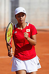 Japan tennis player Mai Hontama during Tennis Junior Fed Cup in Madrid, Spain. September 30, 2015. (ALTERPHOTOS/Victor Blanco)