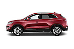 Car Driver side profile view of a 2018 Lincoln MKC FWD 5 Door SUV Side View