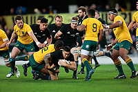 Sonny Bill Williams breaks a tackle during the New Zealand All Blacks v Australia, Rugby Championship test match, Forsyth Barr stadium, Dunedin, New Zealand. 26 August 2017. Copyright Image: Derek Morrison / www.photosport.nz