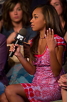 "Toronto (ON) CANADA , July 25, 2007 - <br /> <br /> MTV Live"" has the stars of the new Bratz movie, Nathalia Ramos, Janel Parrish, Logan Browning and Skyler Shaye, in-studio to discuss the phenomenon<br /> photos : by Cody Bokshowan - Images Distribution"