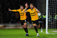 Robbie Willmott of Newport County reacts as his goal is disallowed during the Sky Bet League Two Play-off Semi Final: First Leg match between Newport County and Mansfield Town at Rodney Parade in Newport, Wales, UK.  Thursday 09 May 2019