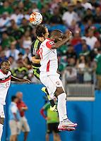 CHARLOTTE, NORTH CAROLINA - July 15, 2015: The 2015 Concacaf Gold Cup Mexico vs Trinidad and Tobago at Bank of America Stadium.  Final score Mexico 4, Trinidad and Tobago 4.