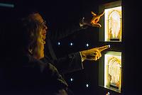 """Eroeffnung des Passionsmuseum im Barockkloster Neuzelle in Brandenburg.<br /> Am 20. Maerz 2015 wurde das Museum zur dauerhaften Praesentation der Neuzeller Passionsdarstellungen eroeffnet. Das Museum traegt den Titel """"Himmlisches Theater – Die Neuzeller Passionsdarstellungen vom Heiligen Grab"""". Zu sehen sind zwei historische hoelzerne 3D-Buehnenbilder der Szenen Judaskuss und Kreuztragung nach ihrer Restaurierung sowie Reliquien und Funde aus Grabstaetten des Klosters.<br /> 20.3.2015, Neuzelle/Brandenburg<br /> Copyright: Christian-Ditsch.de<br /> [Inhaltsveraendernde Manipulation des Fotos nur nach ausdruecklicher Genehmigung des Fotografen. Vereinbarungen ueber Abtretung von Persoenlichkeitsrechten/Model Release der abgebildeten Person/Personen liegen nicht vor. NO MODEL RELEASE! Nur fuer Redaktionelle Zwecke. Don't publish without copyright Christian-Ditsch.de, Veroeffentlichung nur mit Fotografennennung, sowie gegen Honorar, MwSt. und Beleg. Konto: I N G - D i B a, IBAN DE58500105175400192269, BIC INGDDEFFXXX, Kontakt: post@christian-ditsch.de<br /> Bei der Bearbeitung der Dateiinformationen darf die Urheberkennzeichnung in den EXIF- und  IPTC-Daten nicht entfernt werden, diese sind in digitalen Medien nach §95c UrhG rechtlich geschuetzt. Der Urhebervermerk wird gemaess §13 UrhG verlangt.]"""