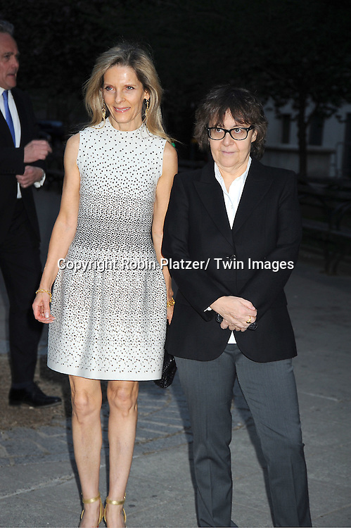 Sandy Brant and Ingrid Sischy arrives at The Vanity Fair Tribeca Film Festival Party at The State Supreme Courthouse at 60 Centre Street on April 17, 2012 in New York City.