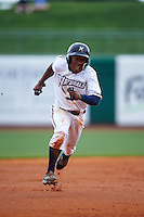 NW Arkansas Naturals outfielder Terrance Gore (3) running the bases during a game against the San Antonio Missions on May 31, 2015 at Arvest Ballpark in Springdale, Arkansas.  NW Arkansas defeated San Antonio 3-1.  (Mike Janes/Four Seam Images)