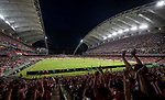 Soccer fans wave hands during the Premier League Asia Trophy match between West Bromwich Albion and Crystal Palace at Hong Kong Stadium on 22 July 2017, in Hong Kong, China. Photo by Yu Chun Christopher Wong / Power Sport Images