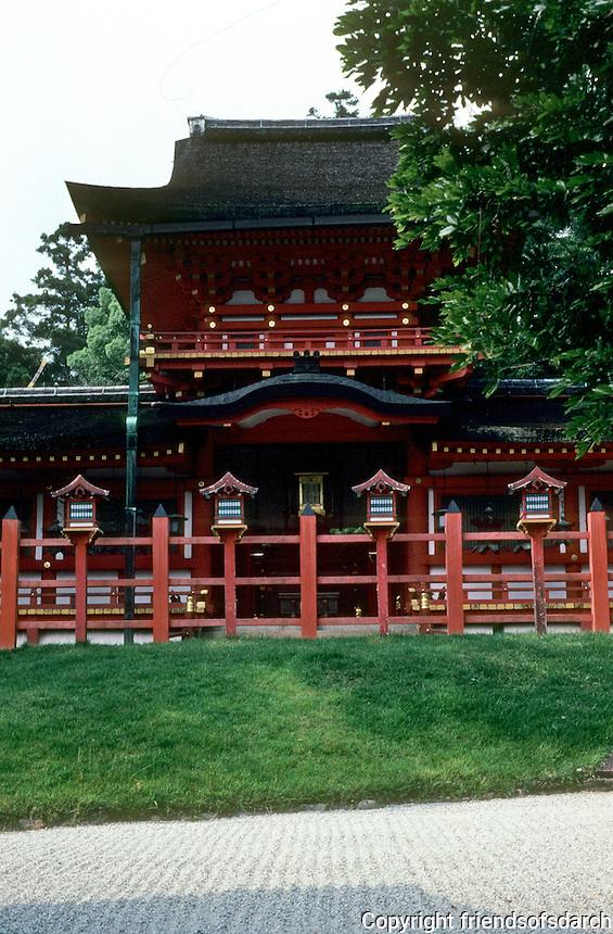 Nara: Kasuga Grand Shrine, inner gate. Original gate 768 A.D.  Date of this?  Photo '81.