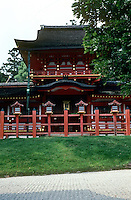 Nara: Kasuga Grand Shrine, inner gate. Original gate 768 A.D.  Date of this?  Photo '81.