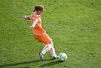 Christie Rampone kicks the ball. FC Gold Pride defeated Sky Blue FC 1-0 at Buck Shaw Stadium in Santa Clara, California on May 3, 2009.