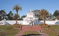 San Francisco: Conservatory, Golden Gate Park. Manufactured by Lord & Burnham, Irvington N.Y., 1875. (after Kew Gardens)  Photo '83.
