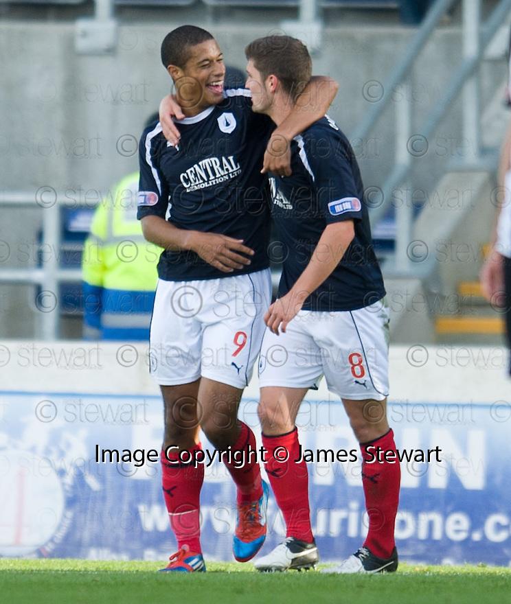 Falkirk's Lyle Taylor celebrate after he scores Falkirk's second goal    ...