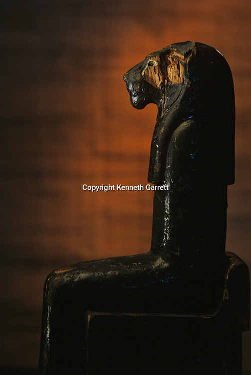 Amenhotep II; Leonine Goddess; KV 35; Wood;Tutankhamun and the Golden Age of the Pharaohs, Page 102