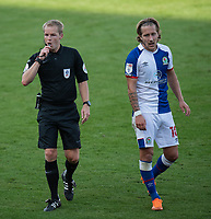 Blackburn Rovers' Lewis Holtby (right) and referee Gavin Ward (left) <br /> <br /> Photographer David Horton/CameraSport <br /> <br /> The EFL Sky Bet Championship - Bournemouth v Blackburn Rovers - Saturday September 12th 2020 - Vitality Stadium - Bournemouth<br /> <br /> World Copyright © 2020 CameraSport. All rights reserved. 43 Linden Ave. Countesthorpe. Leicester. England. LE8 5PG - Tel: +44 (0) 116 277 4147 - admin@camerasport.com - www.camerasport.com