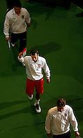 Tenis, Davis Cup 2010.Serbia Vs. Czech Republic, semifinals.Viktor Troicki Vs. Radek Stepanek.Radek Stepanek, center.Beograd, 17.09.2010..foto: Srdjan Stevanovic/Starsportphoto ©
