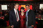 ISPS Handa Wales Open 2012.Midori Miyazaki from ISPS with European Tour Chief Executive George O'Grady and Ryder Cup captain Jose Maria Olazabal at the Gala dinner...29.05.12.©Steve Pope