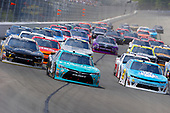 NASCAR XFINITY Series<br /> Pocono Green 250<br /> Pocono Raceway, Long Pond, PA USA<br /> Saturday 10 June 2017<br /> Kyle Benjamin, Hisense Toyota Camry and Daniel Hemric, Blue Gate Bank Chevrolet Camaro and Justin Allgaier, Allan Myers Chevrolet Camaro green flag start<br /> World Copyright: Russell LaBounty<br /> LAT Images<br /> ref: Digital Image 17POC1rl_02994