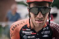 Daan Soete's post-race face<br /> <br /> 3rd Dwars Door Het hageland 2018 (BEL)<br /> 1 day race:  Aarschot > Diest: 198km