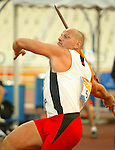 France Gagné of Québec won the bronze in Javelin today.<br /> (Benoit Pelosse photographe)