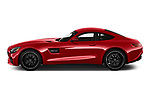 Car Driver side profile view of a 2020 Mercedes Benz AMG-GT - 3 Door Coupe Side View
