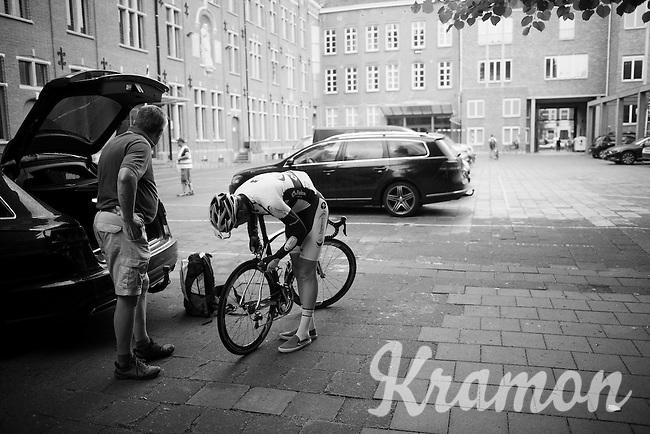 prepping for the post-Tour Criterium Mechelen (Belgium) 2016
