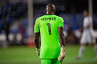 LAKE BUENA VISTA, FL - JULY 27: Kenneth Vermeer #1 of LAFC before the second half during a game between Seattle Sounders FC and Los Angeles FC at ESPN Wide World of Sports on July 27, 2020 in Lake Buena Vista, Florida.
