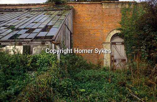 Great Tew Kitchen gardens to manor House Oxfordshire 1986.