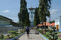 The tower inside Thailand's  Bangkwang Central Prison.  There are 842 men on death row in the prison, 60% are there for narcotics smuggling.