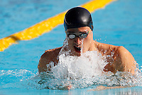 Trofeo Settecolli di nuoto al Foro Italico, Roma, 13 giugno 2013.<br /> Fabio Scozzoli, of Italy, competes in the men's 100 meters breaststroke at the Sevenhills swimming trophy in Rome, 13 June 2013.<br /> UPDATE IMAGES PRESS/Isabella Bonotto