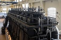 One the two diesel engines. Hall of the Machines. Centrale Montemartini. Rome, Italy. Mar. 07, 2015