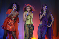 "071705 smg<br /> <br /> SUNRISE - JULY 17: Destiny's Child singers Kelly Rowland, Beyonce Knowles, and Michelle Williams perform on their ""Destiny Fulfilled...and Lovin It"" tour, July 17, 2005 at the Office Depot Center in Sunrise, Florida. (Photo by Storms Media Group) <br /> <br /> People: Kelly Rowland; Beyonce Knowles; Michelle Williams <br /> <br /> Must call if interested <br /> Michael Storms<br /> Storms Media Group<br /> 305-632-3400<br /> 305-531-6834 - Fax<br /> MikeStorm@aol.com"