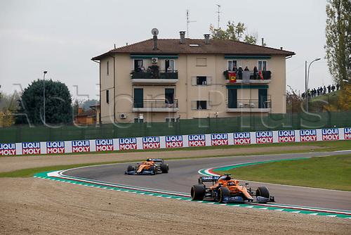 1st November 2020, Imola, Italy; FIA Formula 1 Grand Prix Emilia Romagna, Race Day; 55 Carlos Sainz ESP, McLaren F1 Team