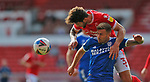 19.09.20 - Nottingham Forest v Cardiff - Sky Bet Championship - Tobias Figueiredo of Nottingham Forest and Joe Ralls of Cardiff