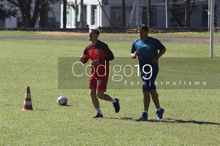 CAMPINAS, SP 25.06.2019 - GUARANI - A equipe do Guarani FC realizou treino nesta terça-feira (25) no campo do 2º Batalhão Logistico do Exercito Brasileiro, na cidade de Campinas (SP). (Foto: Denny Cesare/Código19)