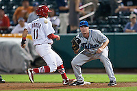 July 21, 2010 Jeff Kindel (35) in action during the MiLB game between the Tulsa Drillers and the Springfield Cardinals at Hammons Field in Springfield Missouri.  Tulsa won 5-3
