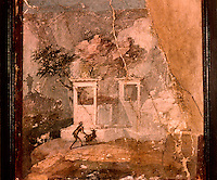Roman Art:  Fresco--L'oriete smarrito (pittura romana).   National Museum, Naples.