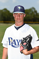 GCL Rays pitcher Cameron Varga (23) poses for a photo after a game against the GCL Red Sox on June 24, 2014 at Charlotte Sports Park in Port Charlotte, Florida.  GCL Red Sox defeated the GCL Rays 5-3.  (Mike Janes/Four Seam Images)