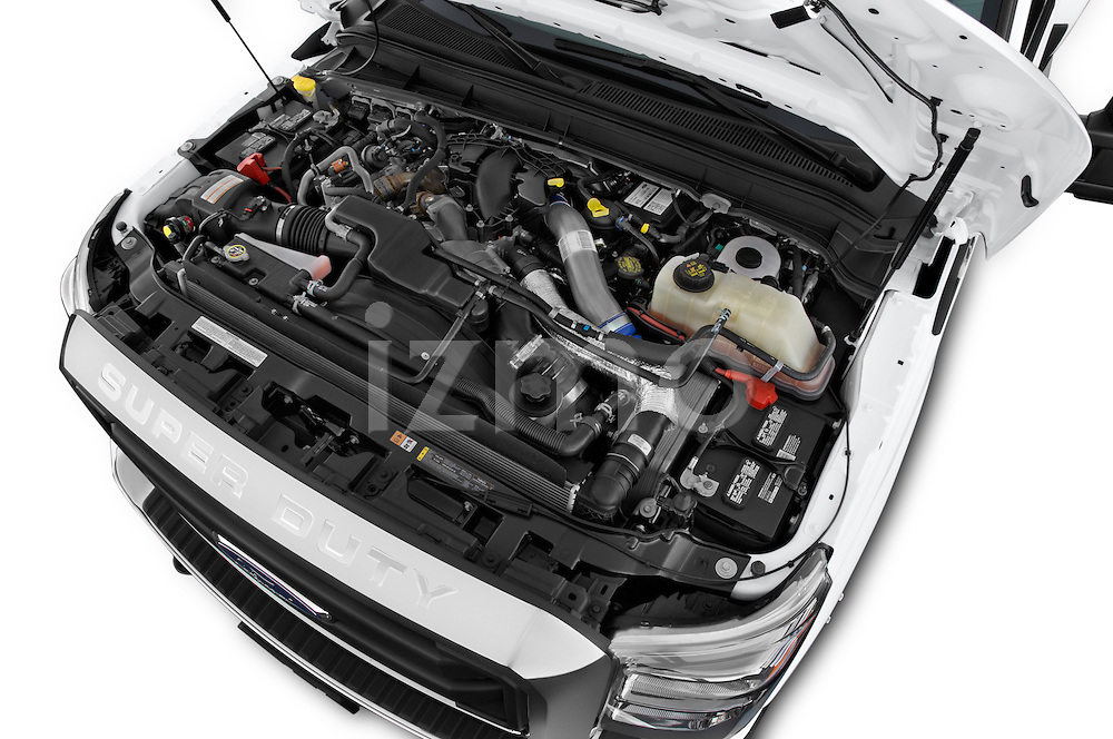 Car Stock 2015 Ford F-350 Super Duty XL 4x4 SuperCab 158-In DRW 2 Door pickup Engine high angle detail view