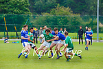 Donal Dennehy Milltown-Castlemaine is tackled by Jack O'Connor LAune Rangers during their Div 3 clash in Milltown on Sunday